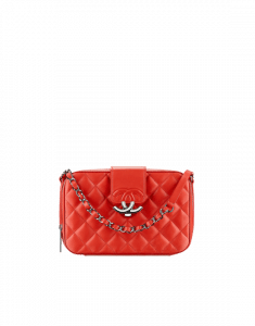 Chanel Red Quilted Lambskin Camera Case Bag