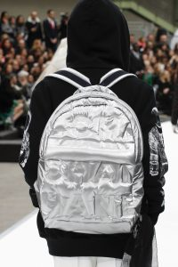 Chanel Silver Backpack Bag - Fall 2017