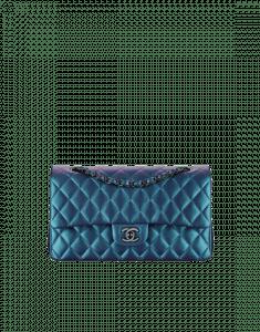 Chanel Turquoise Medium Classic Flap Bag