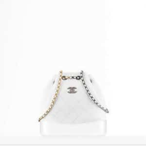 Chanel White Gabrielle Backpack Bag