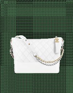 Chanel White Gabrielle Hobo Bag