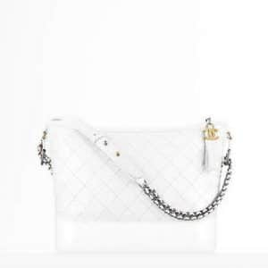 Chanel White Large Gabrielle Hobo Bag