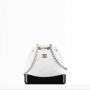 Chanel White/Black Gabrielle Backpack Bag