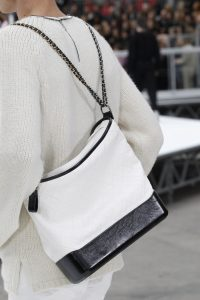 Chanel White/Black Gabrielle Hobo Bag 3 - Fall 2017