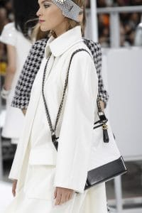Chanel White/Black Gabrielle Hobo Bag - Fall 2017