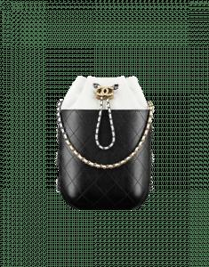 Chanel White/Black Gabrielle Purse Bag