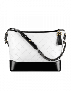 Chanel White/Black Large Gabrielle Hobo Bag