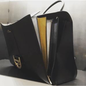 Delvaux Black/Antique Gold/Antique Silver Brillant GM Bag