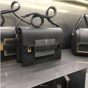 Delvaux Gray Calfskin/Stingray Madame Mini Bag