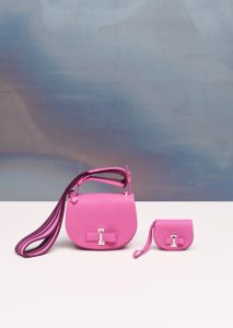 Delvaux Heliotrope Le Mutin Card Holder and Mini Bag