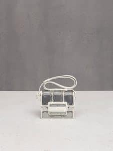 Delvaux Ivory/Antique Silver Iron Shield Madame Mini Bag