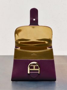 Delvaux Prune/Antique Gold Brillant GM Bag