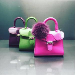 Delvaux Prune/Empire/Heliotrope Brillant Mini Bags