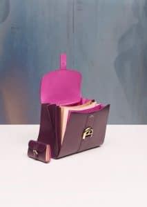 Delvaux Prune/Heliotrope/Vison Brillant MM Bag