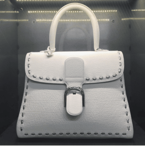 Delvaux White Metal Stitch Brillant Bag