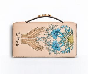 Dior Beige The World Card Embroidered Tarot Pouch Bag