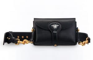 Dior Black D-Bee Mini Saddle Bag