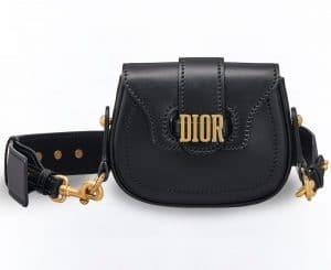 Dior Black D-Fence Mini Saddle Bag