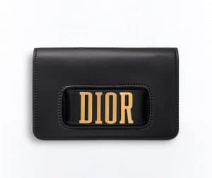 Dior Black Dior Pouch Bag with Slot Handclasp