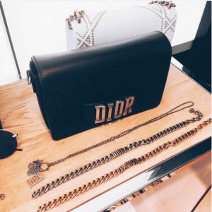 Dior Black Flap Bag with Slot Handclasp 3