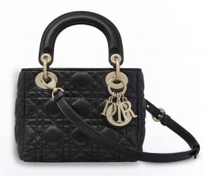 Dior Black Mini Supple Lady Dior Bag
