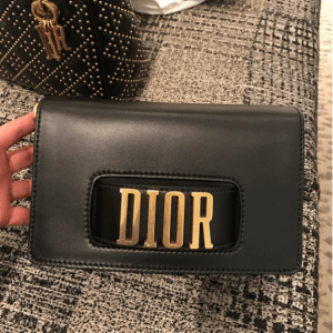 Dior Black Pouch Bag with Slot Handclasp 2
