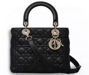 Dior Black Supple Lady Dior Bag