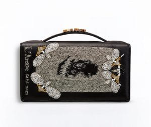 Dior Black The Death Card Embroidered Tarot Pouch Bag