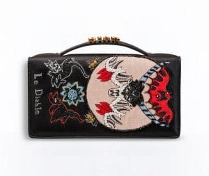 Dior Black The Devil Card Embroidered Tarot Pouch Bag
