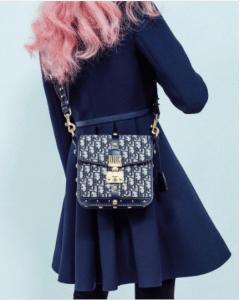Dior Blue Denim Monogram Flap Bag 2 - Fall 2017