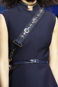 Dior Blue Embellished Shoulder Strap 2 - Fall 2017