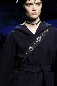 Dior Blue Embellished Shoulder Strap - Fall 2017