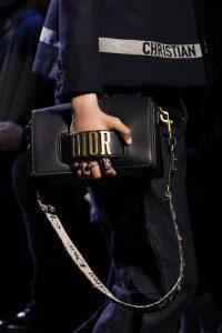 Dior Blue Flap Bag with Denim Monogram Shoulder Strap 2 - Fall 2017