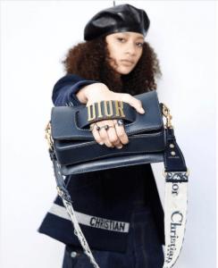 Dior Blue Flap Bag with Denim Monogram Shoulder Strap 3 - Fall 2017