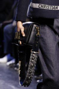 Dior Blue Flap Bag with Denim Monogram Shoulder Strap - Fall 2017
