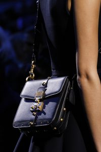 Dior Blue Studded Flap Bag - Fall 2017