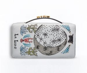 Dior Grey The Moon Card Embroidered Tarot Pouch Bag