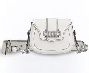 Dior Off-White D-Fence Mini Saddle Bag