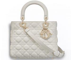 Dior Off-White Supple Lady Dior Bag