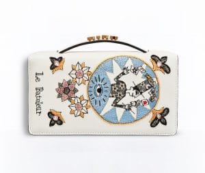 Dior Off-White The Magician Card Embroidered Tarot Pouch Bag