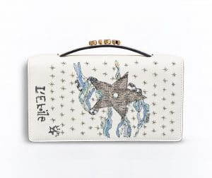 Dior Off-White The Star Card Embroidered Tarot Pouch Bag