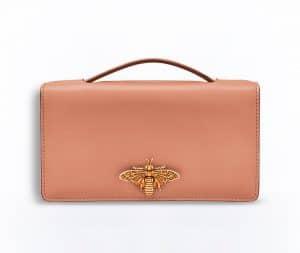 Dior Powder Pink Bee Pouch Bag