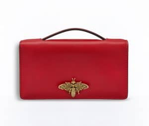 Dior Red Bee Pouch Bag