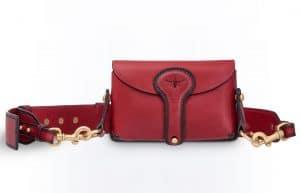 Dior Red D-Bee Mini Saddle Bag