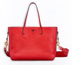 Dior Red D-Bee Shopper Bag