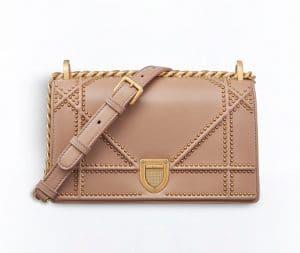 Dior Rose Poudre Studded Diorama Flap Bag