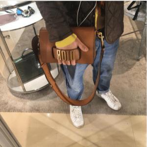 Dior Tan Flap Bag with Slot Handclasp