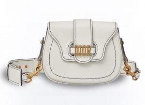 Dior White D-Fence Saddle Bag