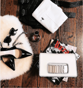 Dior White Flap Bag with Slot Handclasp 3