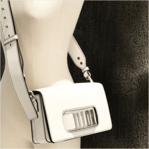 Dior White Flap Bag with Slot Handclasp 7